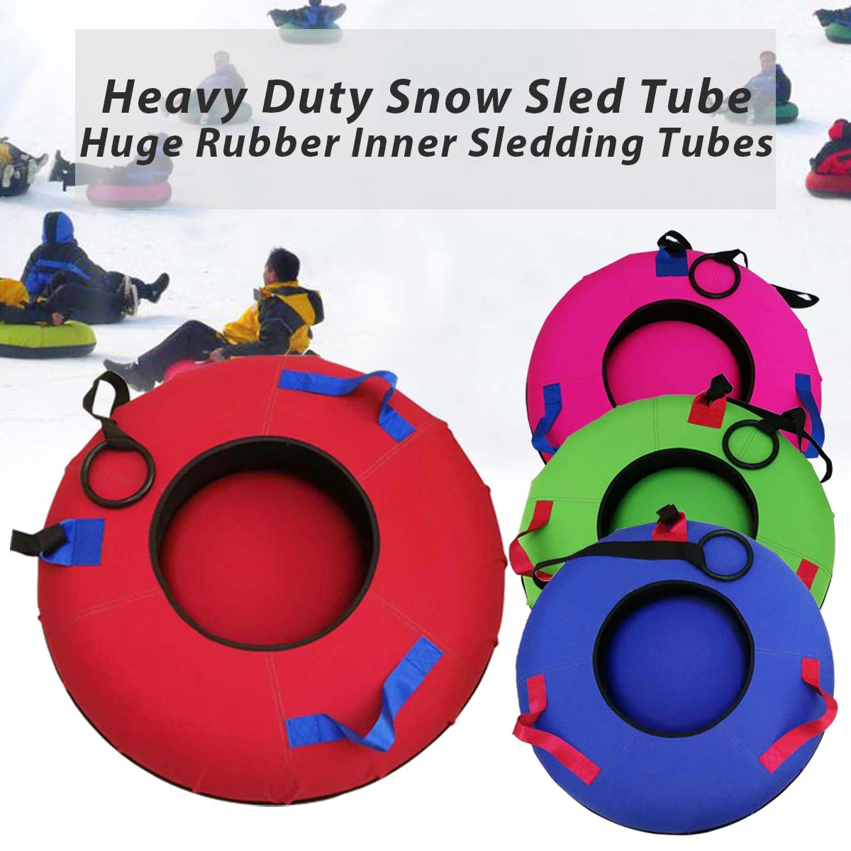 Heavy Duty Traîneau De Neige Tubes sports de Plein Air Skis ski gonflable conseil Double conception