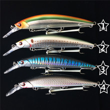Noeby 4pcs 11cm 36.3g sinking 0.2-3m Deep sea Shore trolling lures fishing feeder Minnow lure fishing bait wobblers of minnow