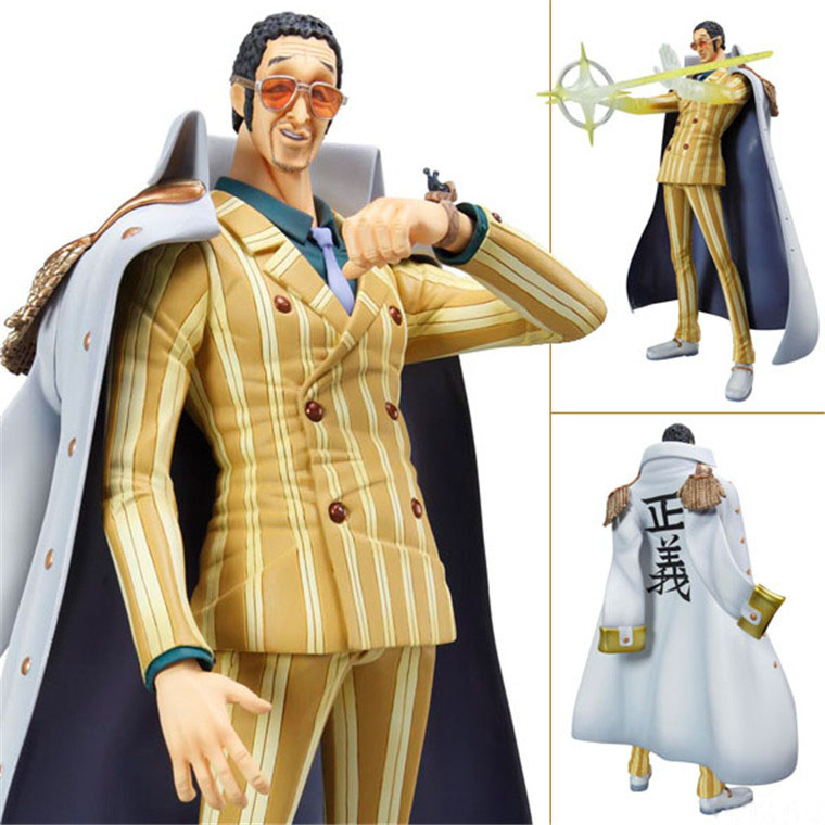 Free Shipping 12 Anime One Piece  Marine Admiral Borsalino Boxed 24cm PVC Action Figure Collection Model Doll Toy Gift anime one piece dracula mihawk model garage kit pvc action figure classic collection toy doll