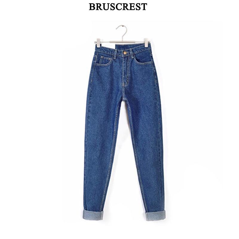 2019 Vintage Black Boyfriend Jeans For Women High Waist Denim Jeans Vintage Slim Mom Pencil Jeans Woman Denim Pants