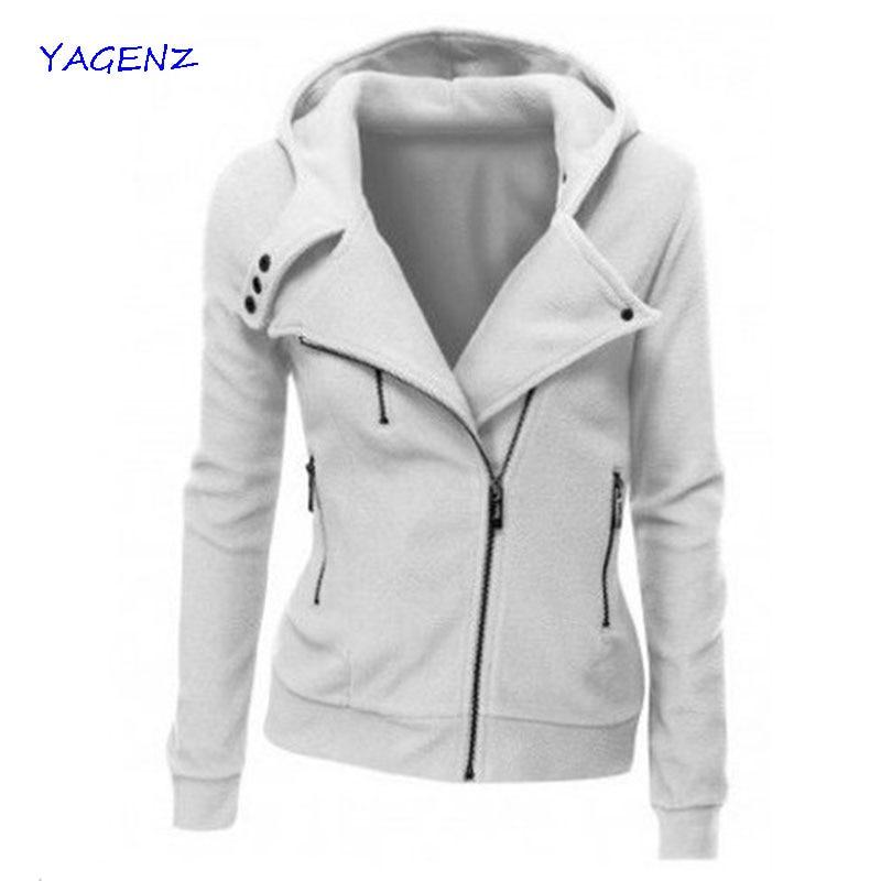2019 Dámská mikina s kapucí Kabátová bunda Casual Slim Outwear dámské mikiny s kapucí ležérní zip Podzimní zimní kabáty YAGENZA22