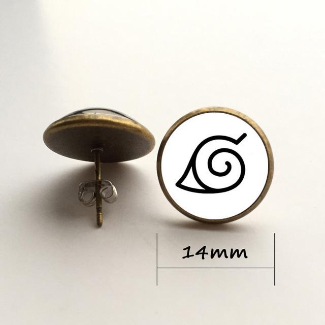 naruto leaf village earrings