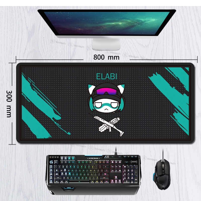 Cute Rainbow Six Siege 80x30cm Rubber Super Large PC Mousepad Gamer Gaming Mouse Pads XL Desk Keyboard Mat for Computer Laptop