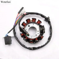 Wotefusi For 11 Coil Stator Magneto Plater For GY6 125CC 152QMI 157QMJ Scooter Moped Parts [PX95]