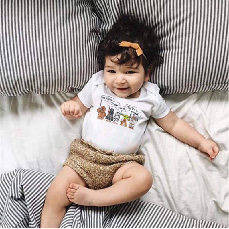 2018 Funny Baby Bodysuit White Babykleding New Born Bodysuit Animal - Babykleding - Foto 5