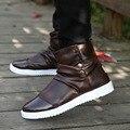 Nova Chegada Estilo Inglaterra Martin Botas Homens Martin Homens Sapatos de Marca Designer de Botas de Motociclista Tornozelo Dos Homens Do Presente Do Natal