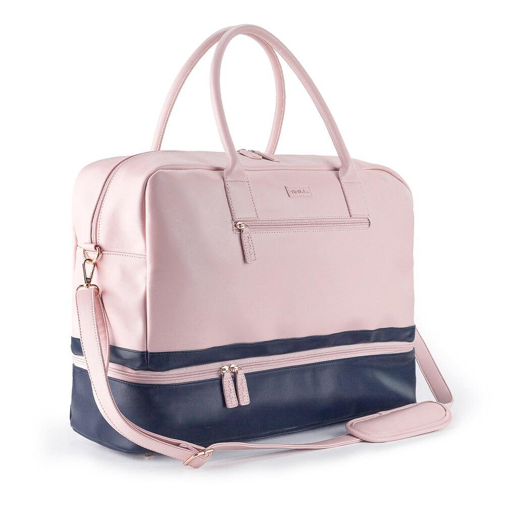 Mealivos PU ファッション女性大ピンクウィークエンダーバッグ一晩にキャリー旅行ダッフルバッグと靴ポーチダッフルバッグ  グループ上の スーツケース & バッグ からの 旅行バッグ の中 1
