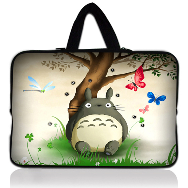 Totoro 10 10.1 10.2 9.7 Handle Soft Shockproof Netbook Sleeve Tablet Laptop Computer Cover for google nexus10 for ipad air 2