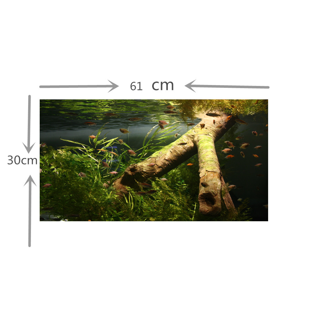 122cm Length 3D Aquarium Background Backdrop Fish Tank Board Decor Underwater Aquarium Landscape Decoration Dropship MA15
