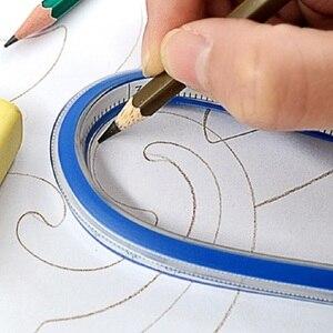 Image 3 - 90 см измерительный гибкий кривой Линейка Инструмент для создания черчения пэчворк 35 дюймов