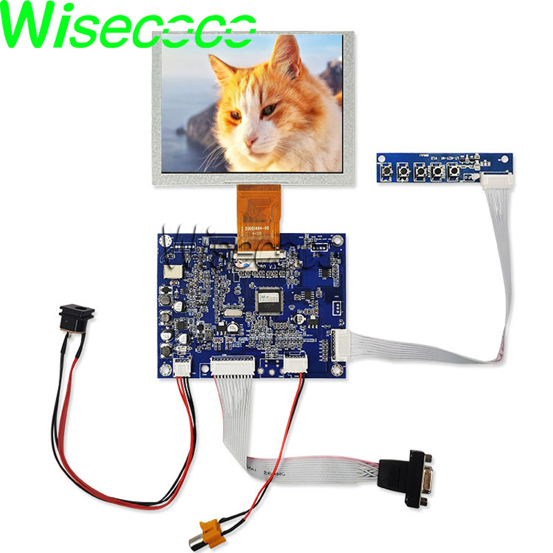 ZJ050NA-08C LCD Screen 5 Inch 640x480 Display Panel With VGA AV LCD Control Board KYV-N2 V6