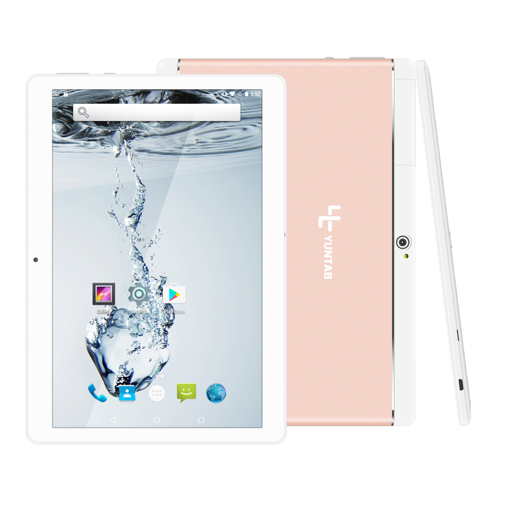 Yuntab K17 Tablet PC Quad-Core Android 5.1 touch screen Smartphone sbloccato 1280 * 800 Costruito in 2 slot per schede SIM (lega di oro rosa)