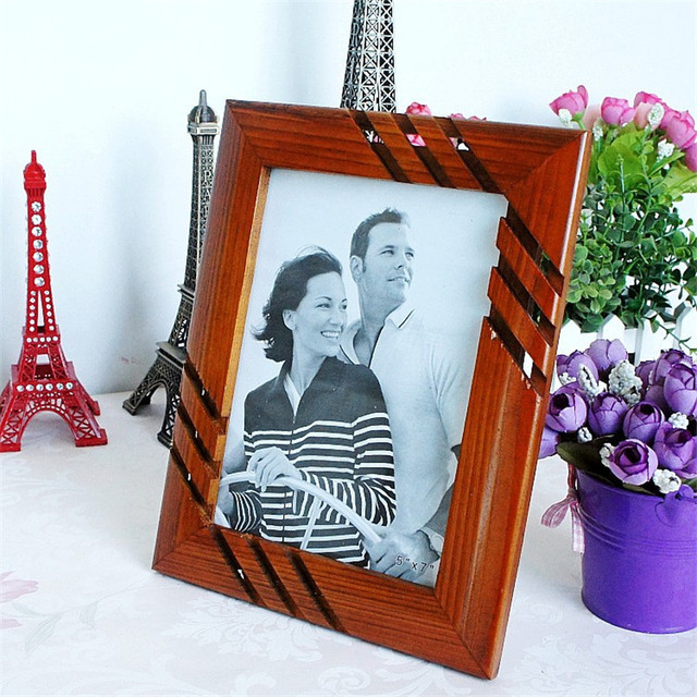2017 Vintage Wooden Photo Frame Home Decoration Solid Wood Picture