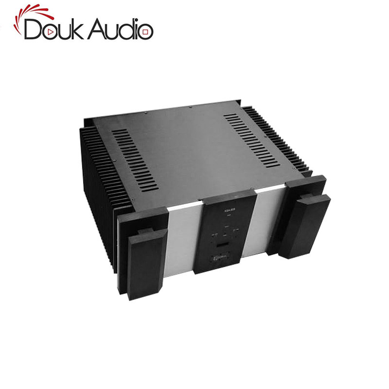 Douk Audio High End Big Class A Power Amplifier Chassis Aluminum Case DIY Enclosure BOX douk audio front panel radiating aluminum chassis power amplifie cabinet diy case black box