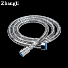 Zhangji flexible 1.5m stainless steel bathroom hose Bathroom fixture Flexible plumbing hose high density shower heads hose ZJ100