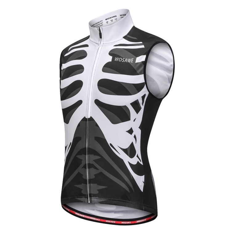 Skeleton Cycling Jersey Sleeveless Skull Shirt Quick Dry Breathable Bike  Vests Road Mountain 2018 Summer Running Cycling Vest-in Cycling Vest from  Sports ... 007caa825