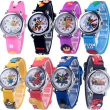 Best-selling watch spider watch cute cartoon watch male girl watch rubber quartz watch gift child superman watch