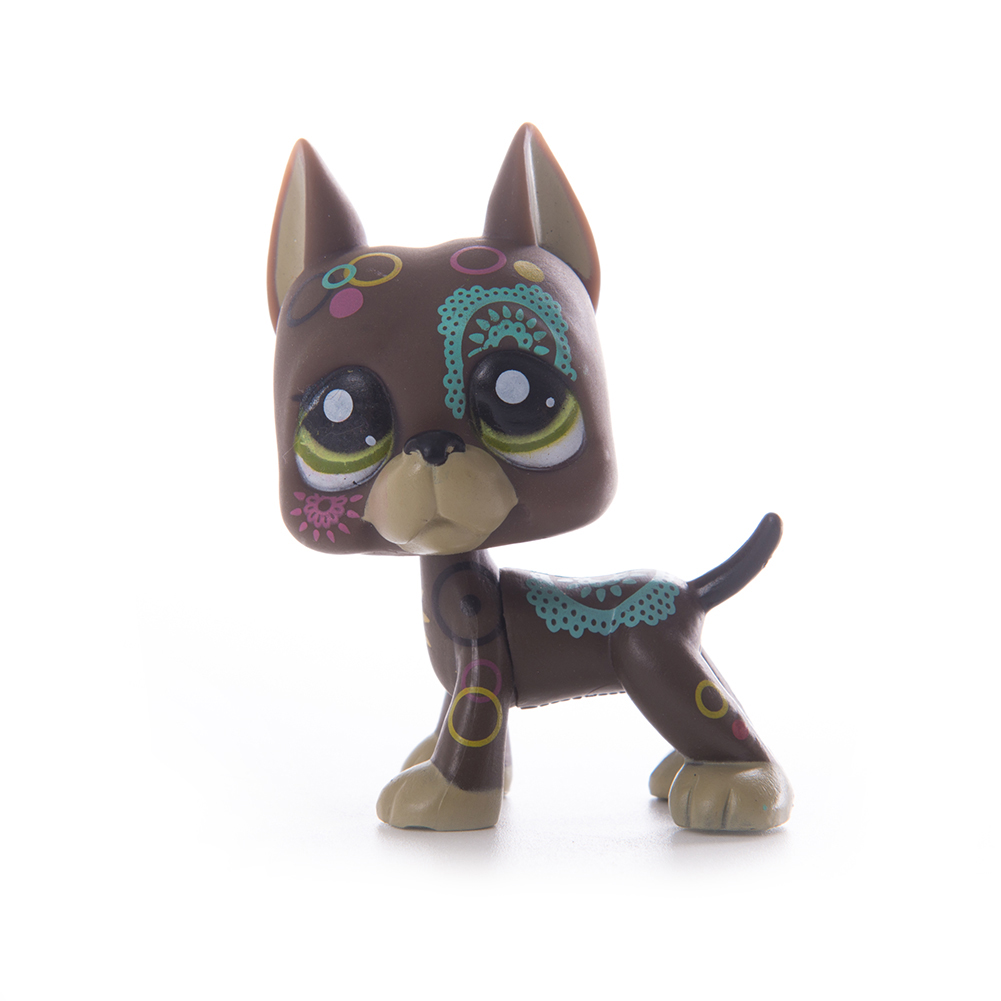 Pet Shop Lps Toys Standing Littlest Short Hair Cat 2291 White Pink Glitter kitty in Action Toy Figures from Toys Hobbies