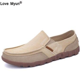 Neue Männer Leinwand Schuhe herren Fashion Solid Bequeme Beiläufige Schuhe Männer Spitze-up Licht Sommer Loafers Schuhe Plus größe 38-48