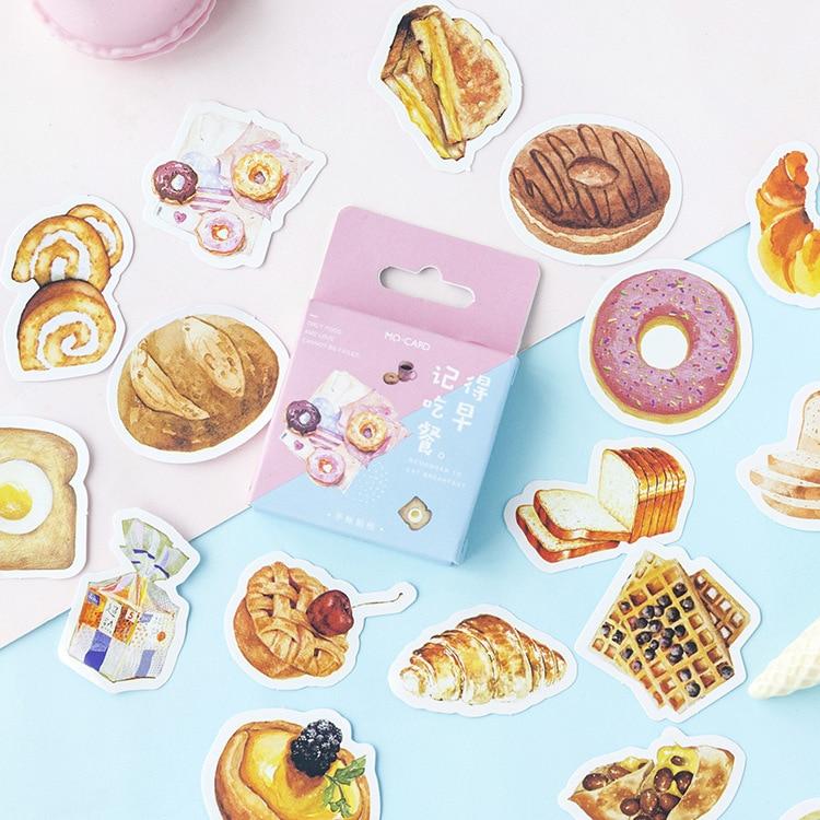 Hatırlıyorum yemek kahvaltı dekoratif çıkartmalar seti yapışkan çıkartmalar DIY dekorasyon günlüğü çıkartmalar kutusu paketi