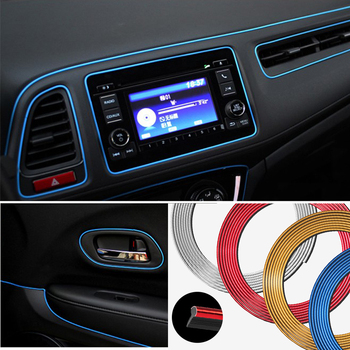 For Renault sceni c1 2 c3 modus Duster Logan Sandero Car Air Outlet Steering-Wheel Interior Decoration Mouldings Line Strips image