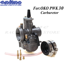 30mm Universal Carburetor for OKO PWK 30 PWK30 Motorcycle Carburador With Power Jet For Racing Motor