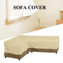 Cubierta impermeable del sofá de la esquina en forma de L muebles de Patio al aire libre gran cubierta del sofá Oxford a prueba de polvo