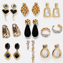 Papan Jantung Crystal DROP Menjuntai Anting-Anting untuk Wanita BoHo Geometris Pesta Wedding Emas Punk Panjang Anting-Anting Vintage Perhiasan(China)