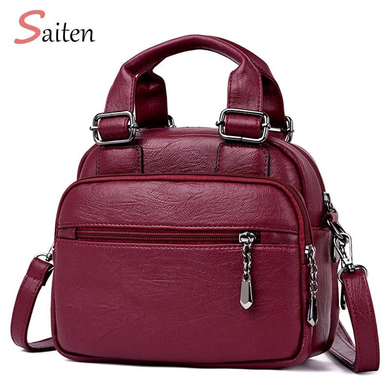 2018 Saiten Luxury Handbags Women Bags Designer PU Leather Bags Girl Fashion Designer Messenger Bag High Quality Crossbody Bag