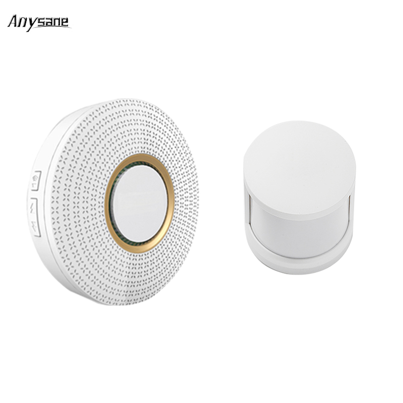 New wireless smart remote control doorbell door bell  ring hub with rf PIR alarm sensor Wireless Cordless ring TFTTT smart home golden security remote control music wireless doorbell with buttons ring sound door bell home accessories mini wireless doorbell