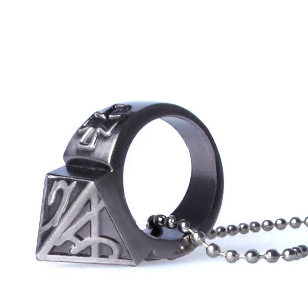 Самообороны кольцо шокер Книги об оружии продукта выживания кольцо инструмент карман Для женщин самообороны кольцо с Цепочки и ожерелья сп...