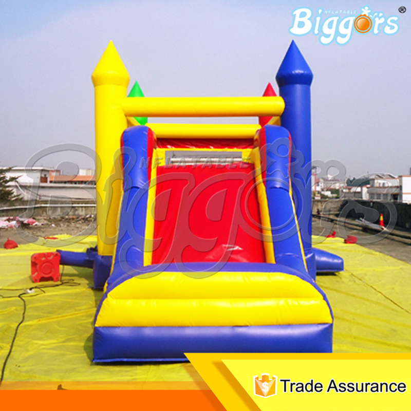 PVC Material Inflatable Bounce House Bouncy Castles Jumping With Slide free shipping pvc material inflatable baby bouncers hot sale 3 75x2 6x2 1 meters small mini bouncy castles for outdoor toys