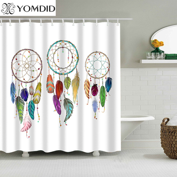 Chất Lượng cao Dreamcatcher Phòng Tắm Vòi Sen Rèm Polyester Phòng Tắm Rèm Đa-kích thước Giấc Mơ Catcher In Shower Curtain