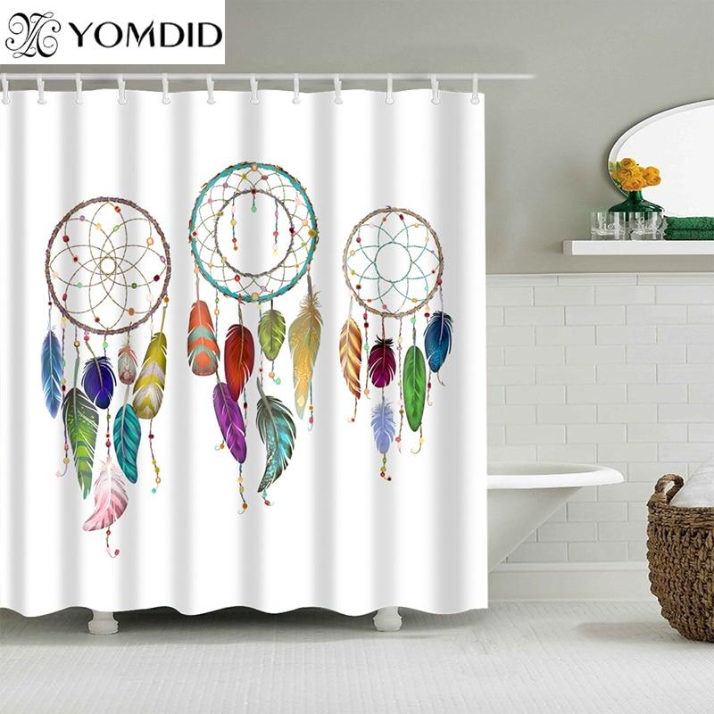 High Quality Dreamcatcher Bathroom Shower Curtain Polyester Bathroom Curtain Multi-size Dream Catcher Printing Shower Curtain