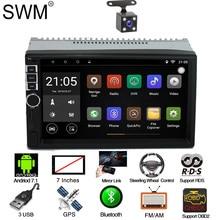 SWM RDS Radio 2 Din Android 7.1 GPS Navigation Car Autoradio Stereo  Radio Coche Bluetooth Radios Para Auto FM USB