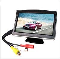 5 Polegada Monitor Do Carro TFT LCD Cor Retrovisor Do Carro Monitor de Tela Digital HD Suporte DVD/Camera/Digital caixa de TV Monitores de carro    -