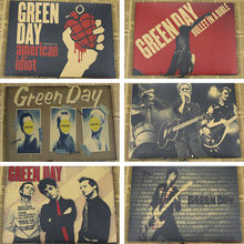 Green Day Vintage Posters Kraft Retro Punk Rock Old Poster European Music Band Star MU27(China)
