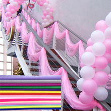 48 см длина: 10 м Mariage пряжа рулон тюля прозрачная органза со стразами день рождения, мероприятие, вечеринка свадебные принадлежности для свадьбы для украшения детского душа