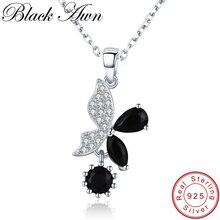 Романтическая бабочка, Новое поступление, 925 пробы серебряные ювелирные изделия, трендовые цветочные ожерелья и подвески для помолвки для женщин KK015