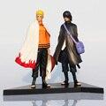 2 Unids/set Naruto Uzumaki Naruto Y Sasuke Uchiha PVC Figuras de Acción Juguetes Muñecas Modelo 17 cm Envío Gratis
