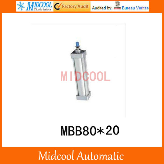 Double acting pneumatic cylinder MBB80*20 bore 80mm stroke 20mm high quality double acting pneumatic gripper mhy2 25d smc type 180 degree angular style air cylinder aluminium clamps