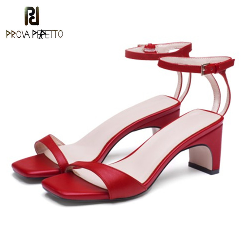 Prova Perfetto 2018 Strange Heel Dress Shoes Woman Narrow Band High Heels Ladies Sandals Ankle Strap Real Leather Women Sandals prova perfetto rivets studded women gladiator sandals narrow band hollow chunky high heel women shoes real leather pumps sandals