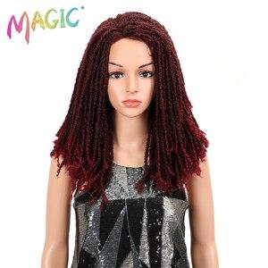 Image 1 - MAGIC Hair 22 Inch Synthetische pruiken Dreadlocks Vlecht Haar Synthetische Dreads Vlechten pruiken Extension Bruin Vlechten Faux Locs Haar