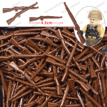Lot Blocks Weapons Military Brown Rifle Germany 98k Set ww2 Figures Army System Gun soldier Compatible Other Building Blocks Toy(China)