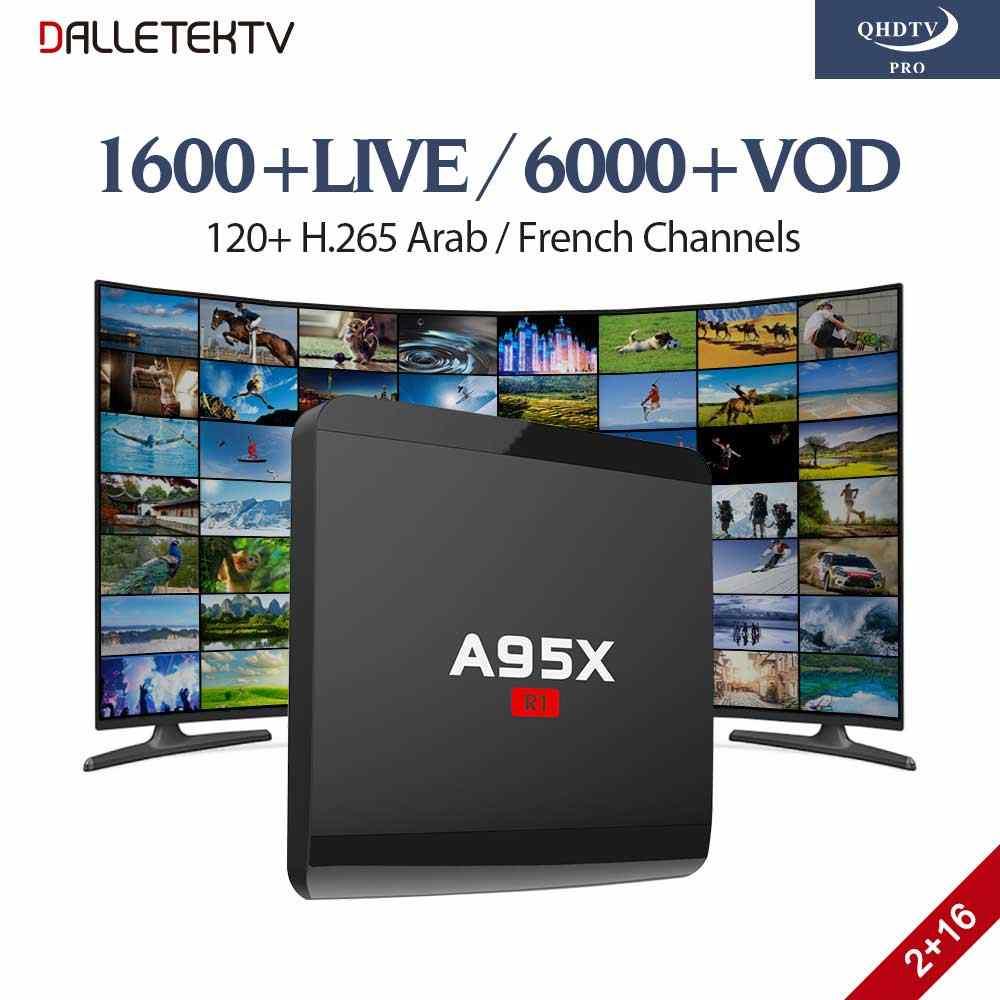 H.265 IPTV, французский, арабский QHD ТВ PRO подписка на 12 месяцев A95X Смарт Android 7,1 ТВ коробка Европа Бельгия английский арабский IPTV Box