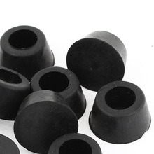 KSOL New Style 10 Pcs 15mm Dia. Cone Shaped Furniture Black Rubber Foot Covers Pads