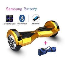 Samsung battery 8 inch self balance electric scooter standing drift board bluetooch+remote + bag +LED electric hoverboard