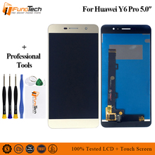 купить 5.0'' For Huawei Y6 Pro LCD Touch Screen For Huawei Y6 Pro Display Digitizer Replacement Parts TIT-U02 TIT-AL00 TIT-L01 по цене 1261.59 рублей