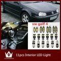 Guang Dian 11 pcs x Livre de Erros Interior Branco LEVOU Luz acessórios lâmpada de leitura Interior Package Kit Para vw golf 4 mk4 luzes