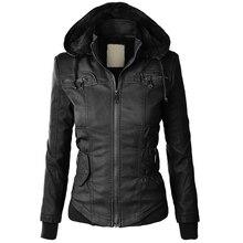 2017 Women's leather Sweatshirt Fleece Hoodies /Cap Long Sleeve Spring Pocket Zipper Casual Solid Jacket European Cotton Coat